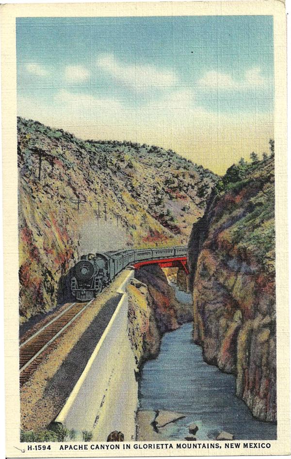 Apache Canyon in Glorietta Mountains, New Mexico