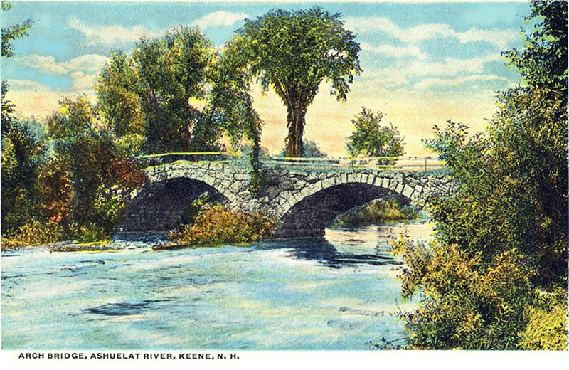 Arch Bridge, Ashuelat River, Keene, New Hampshire