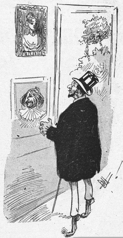 Giraffe art critic from L'Album Comique de la Famille, 1905