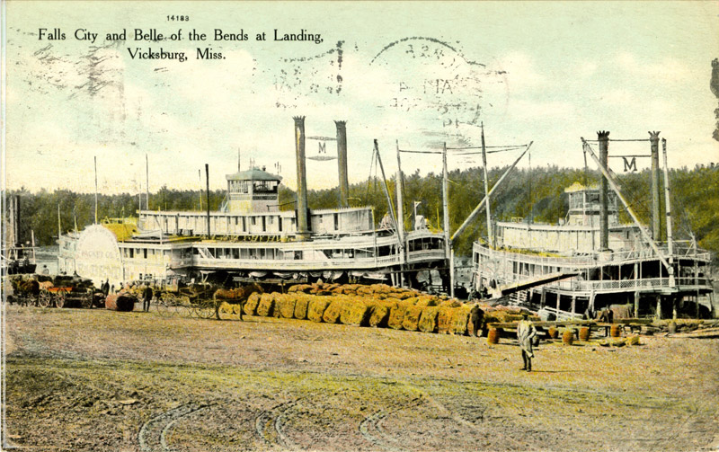 Falls City and Belle of the Bends at Landing, Vicksburg, Mississippi