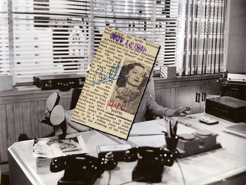 Bette Davis newspaper clipping