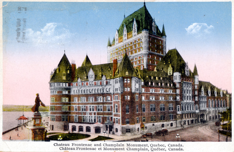 Chateau Frontenac and Champlain Monument, Quebec, Canada