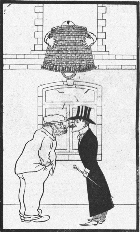 Preursor to the cone of silence from L'Album Comique de la Famille, 1905