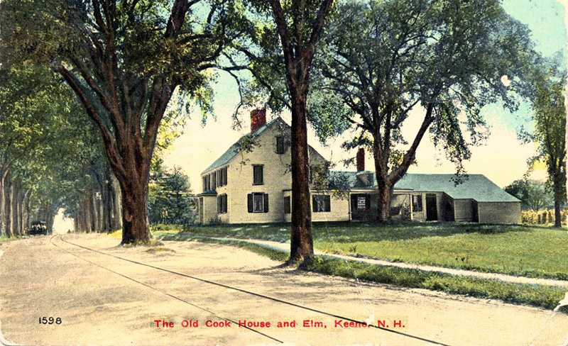 The Old Cook House and Elm, Keene, New Hampshire