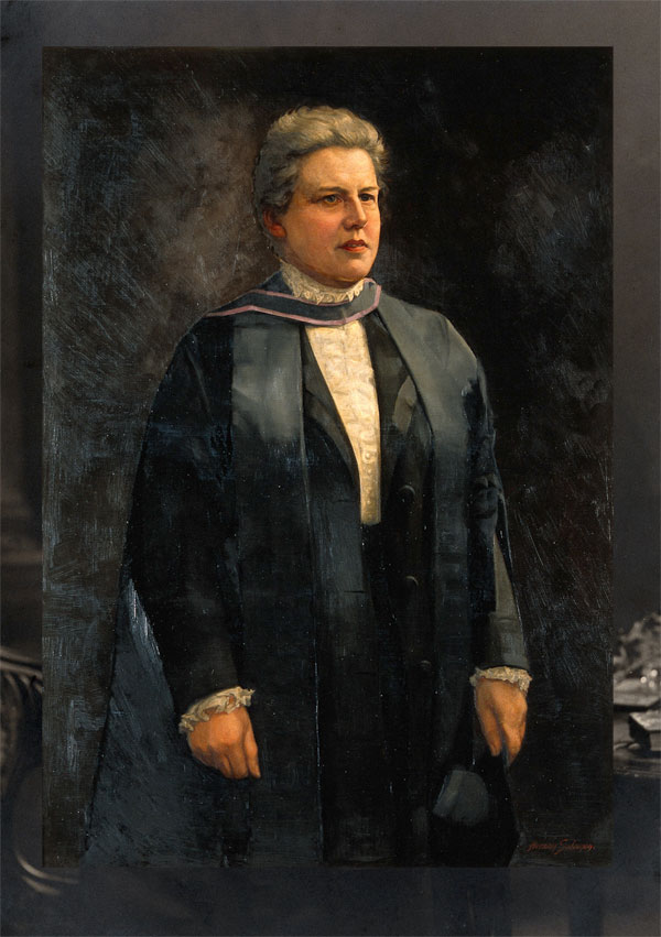 The photograph and the painting of Dame Louisa Brandreth Aldrich-Blake