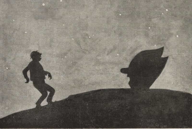 Clown face silhouette from Fliegende Blätter, 1929