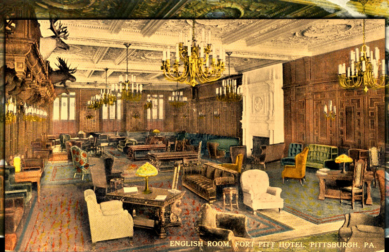 English Room, Fort Pitt Hotel, Pittsburgh, Pennsylvania