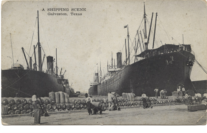 A Shipping Scene: Piers 10 and 11, Galveston, Texas