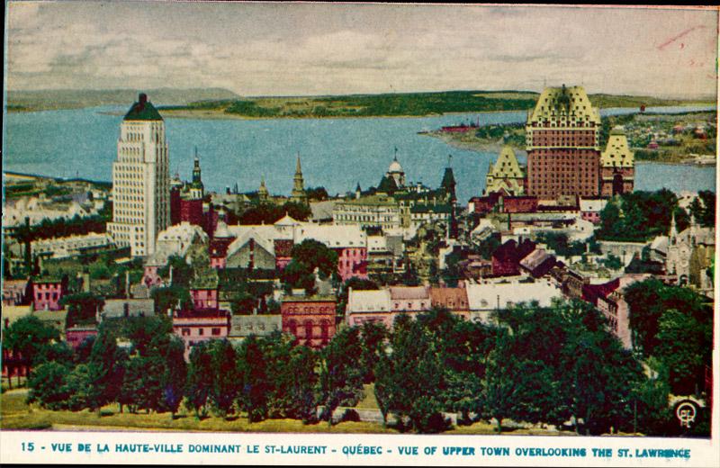 Vue de la Haute-Ville Dominant le St. Laurent, Quebec