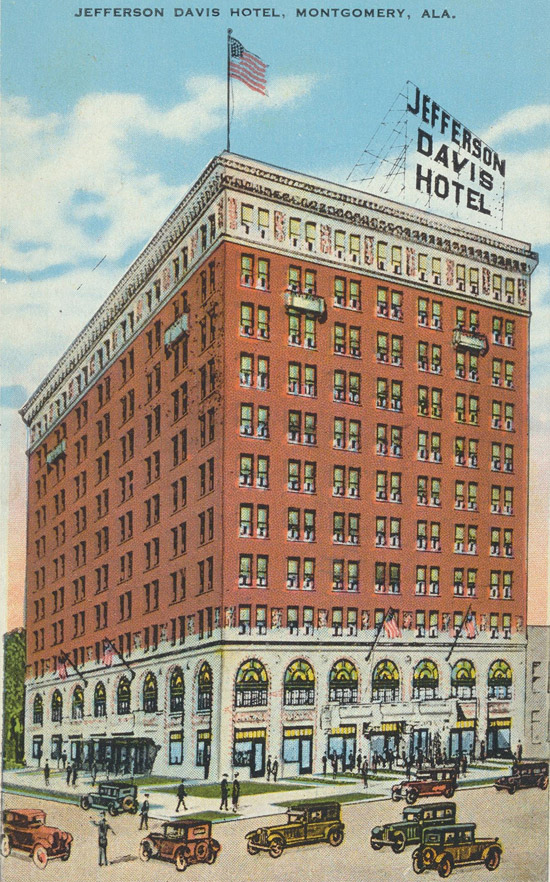 Jefferson Davis Hotel, Montgomery, Alabama