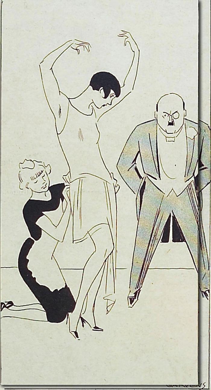 Dress fitting rom Kladderadatsch, 1929