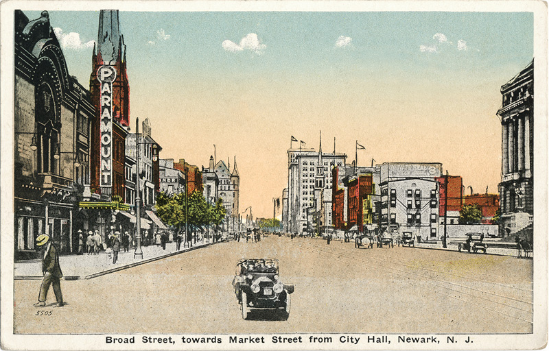 Broad Street, towards Market Street from City Hall, Newark, New Jersey