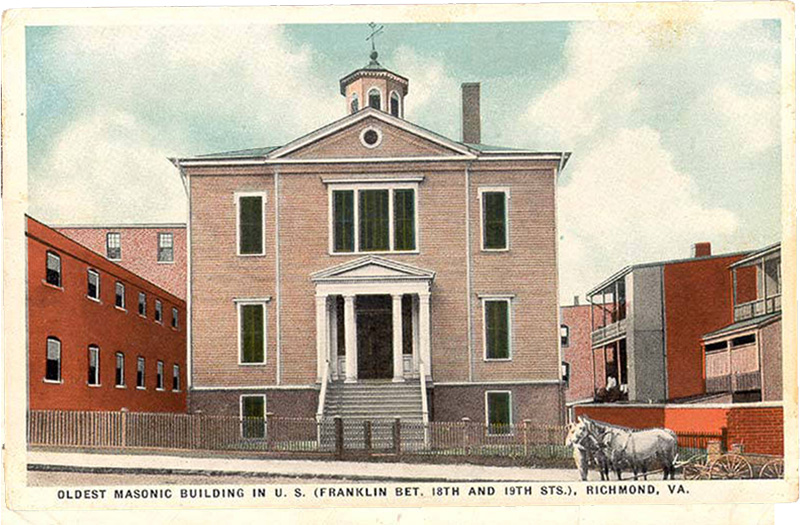 Oldest Masonic Building in U.S., Richmond, Virginia