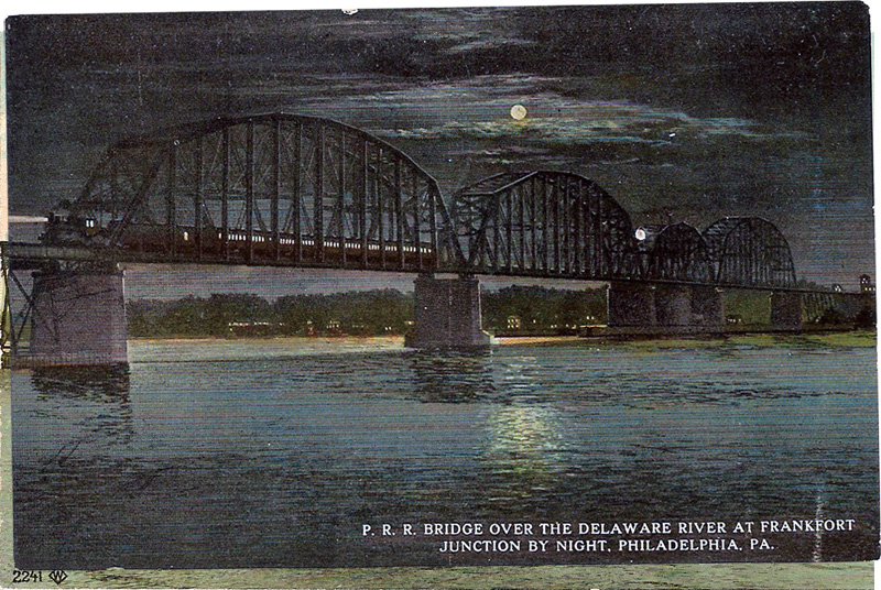 P.R.R. Bridge over the Delaware River at Frankfort Junction, Philadelphia, Pennsylvania