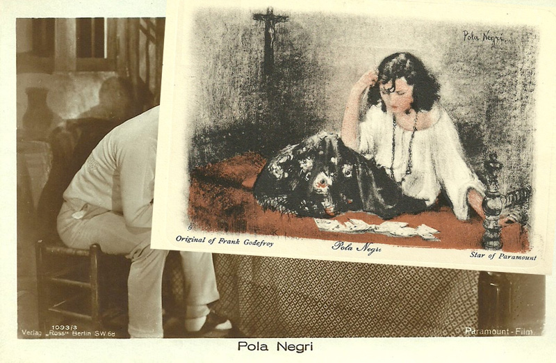Pola Negri painted by Frank Godefroy