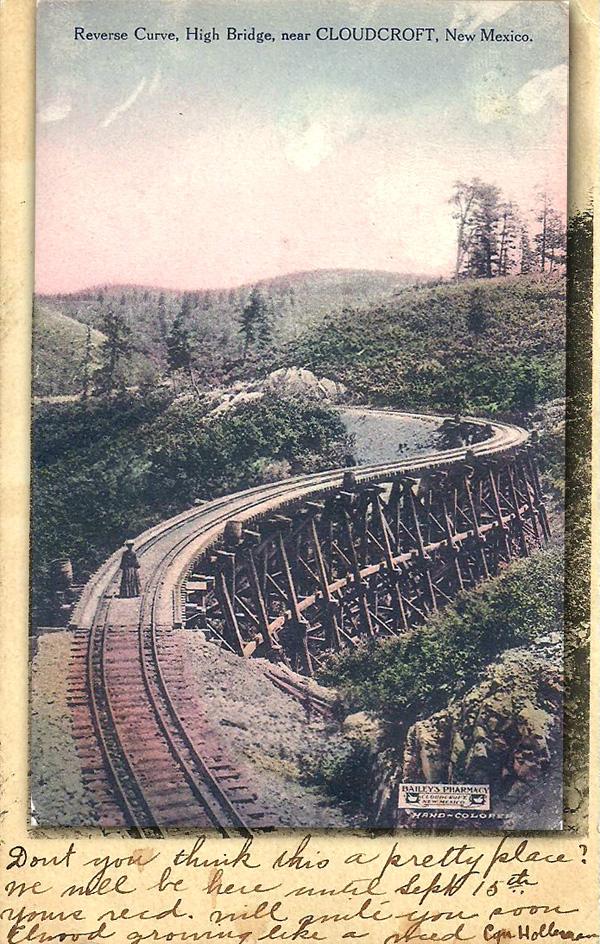 Reverse Curve, High Bridge, Near Cloudcroft, New Mexico