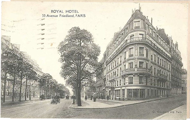 Royal Hotel, Avenue Friedland, Paris