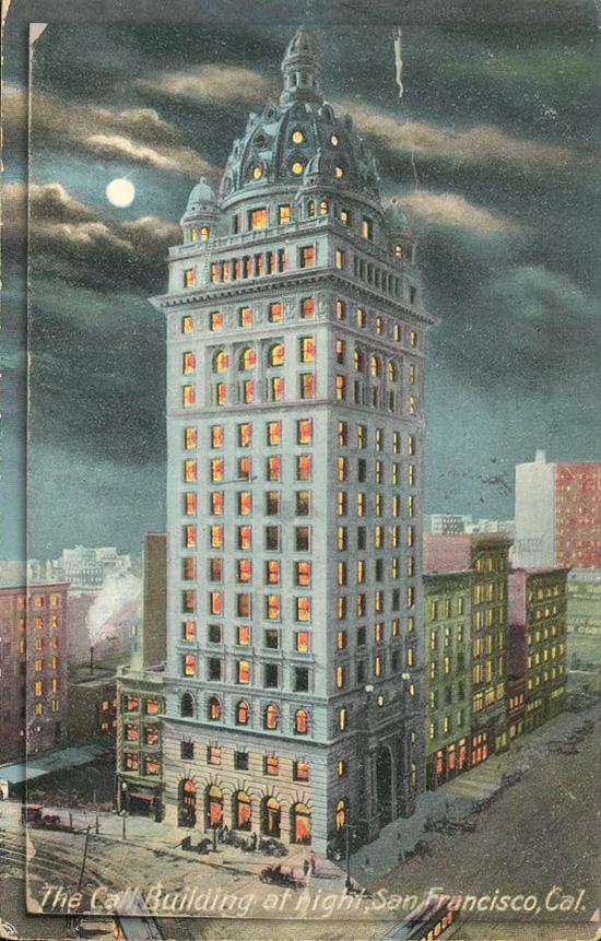The Call Building at Night, San Francisco, California