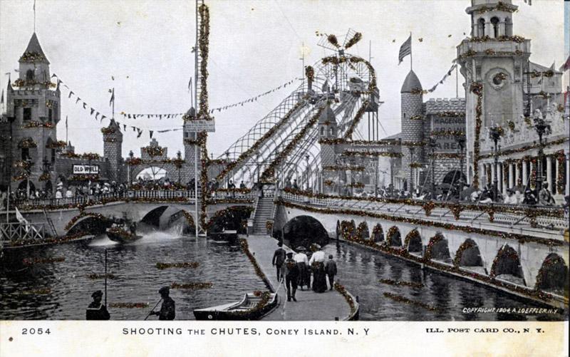 Shooting the Chutes, Coney Island, New York