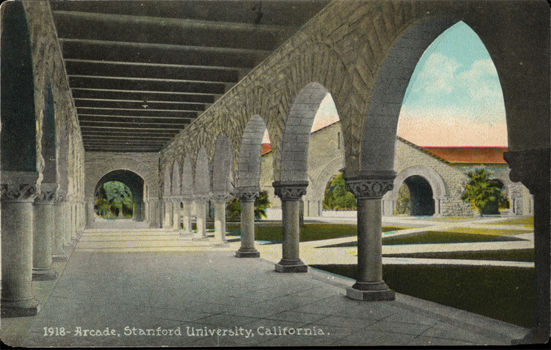 East Arcade and Memorial Court, Stanford University, California