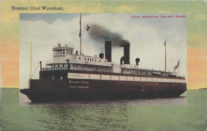 Steamer Chief Wawatam Railway Ferry