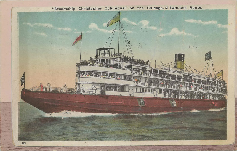Steamship Christopher Columbus on the Chicago-Milwaukee Route