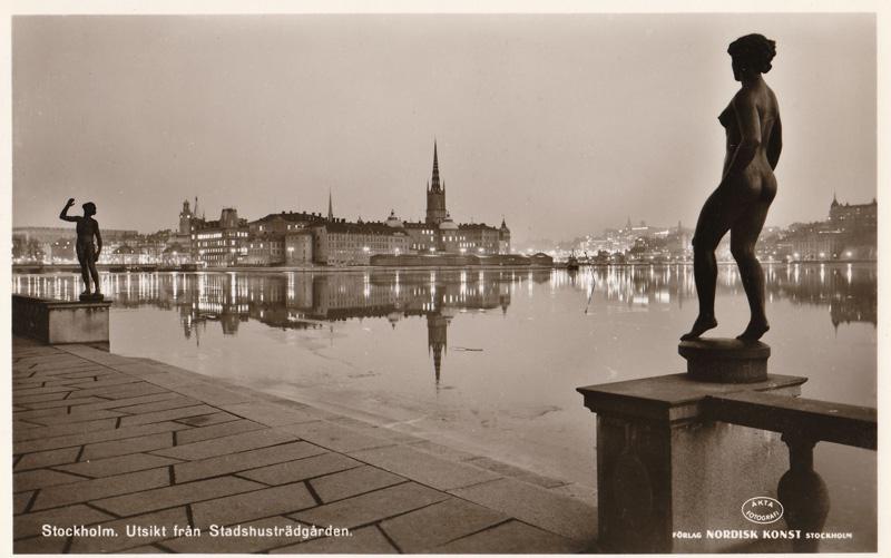 Stockholm. Utsikt fran Stadshustradgaren