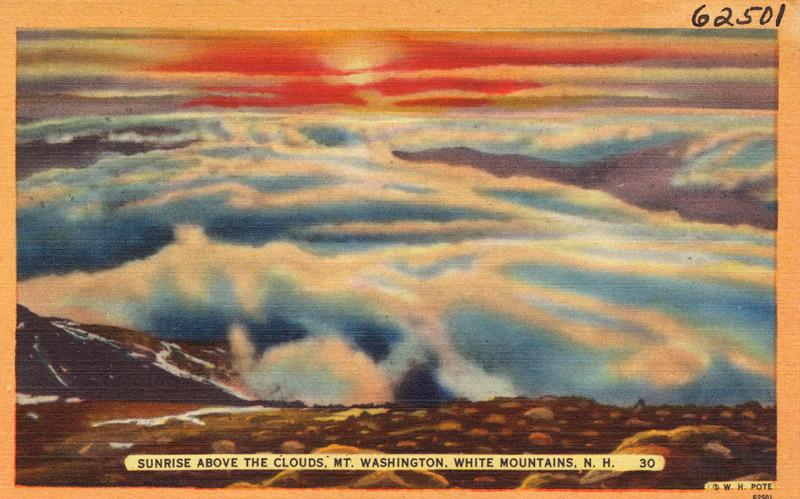 Sunrise above the clouds, Mt. Washington, White Mountains, New Hampshire