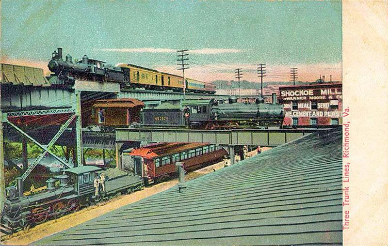Three Trunk Lines, Richmond, Virginia