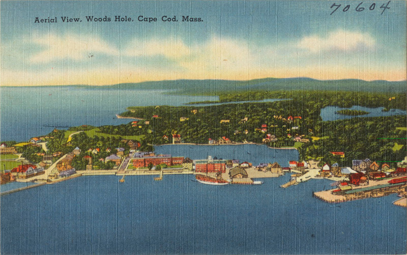 Aerial View, Woods Hole, Cape Cod, Massachusetts