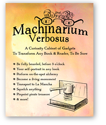 Machinarium Verbosus: A Curiosity Cabinet of Gadgets to Transform Any Book & Reader, To Be Sure